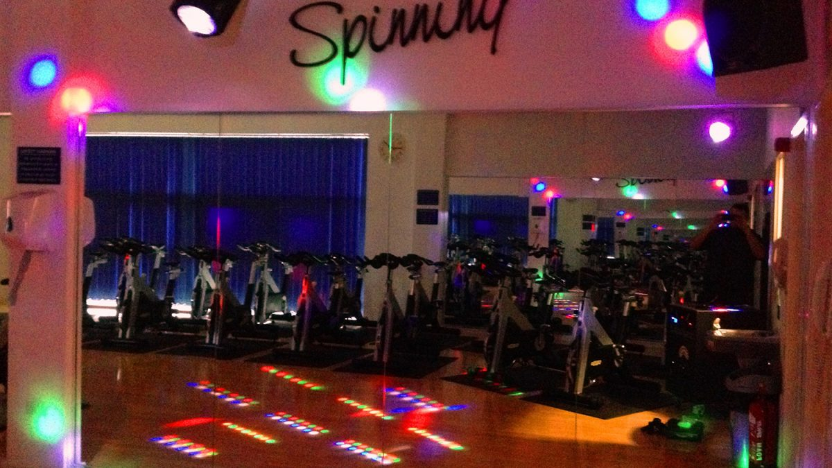 Our client wanted to install some lighting effects in to their spinning studio to inject extra energy in to the classes.