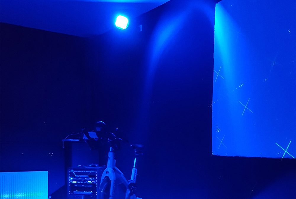 Our clients were specifically after some really cool lighting in their Spin Studio and they were happy to invest in good quality lighting to achieve this.